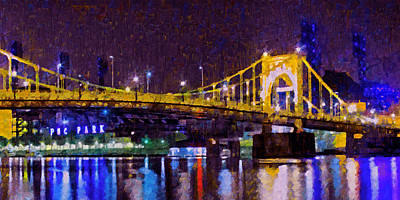 Roberto Clemente Digital Art - The Clemente Bridge Heading To The Northshore by Digital Photographic Arts