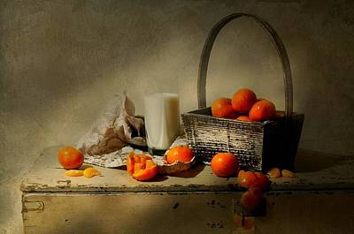 Got Milk Photograph - The Clementine Basket by Diana Angstadt