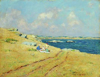 Windblown Painting - The Cliff Walk Newport Rhode Island by Clark Voorhees
