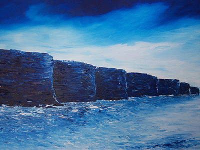 Ireland Painting - The Cliffs Before The Storm by Conor Murphy