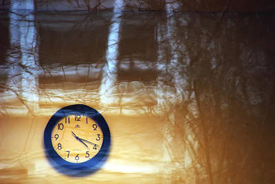 Found-objects Photograph - The Clock Of My Dreams Running Backwards by Marcus Hammerschmitt