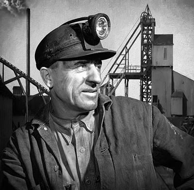 London Tube Mixed Media - The Coal Miner by Daniel Hagerman