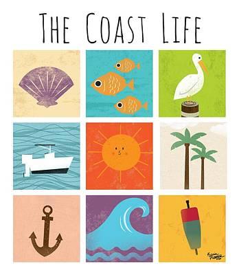 Beach Digital Art - The Coast Life by Kevin Putman