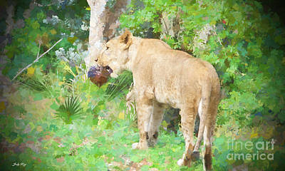 Lion Painting - The Coconut Edition Three by Judy Kay