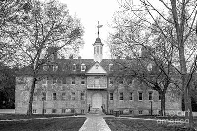 The College Of William And Mary Wren Building Print by University Icons
