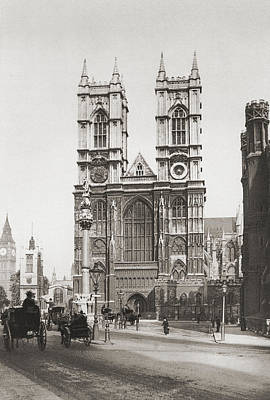 Westminster Abbey Drawing - The Collegiate Church Of St Peter At by Vintage Design Pics