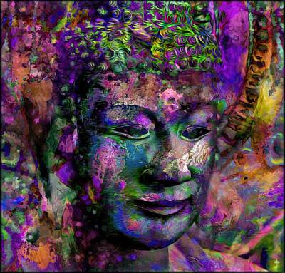 Buddhism Photograph - The Color Buddhas Of Kyhanthor -  Purple  by Daniel Arrhakis