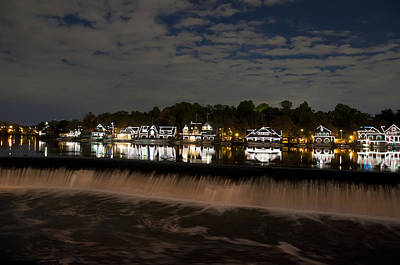 Schuylkill Digital Art - The Colorful Lights Of Boathouse Row by Bill Cannon