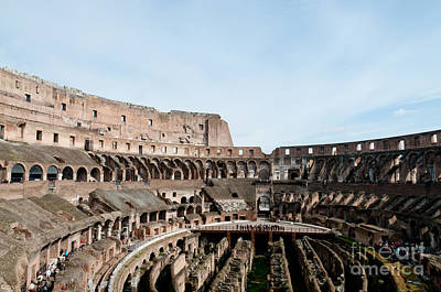 The Colosseum Colosseo Ruins Of The Gladiators Stadium Rome Italy Print by Andy Smy