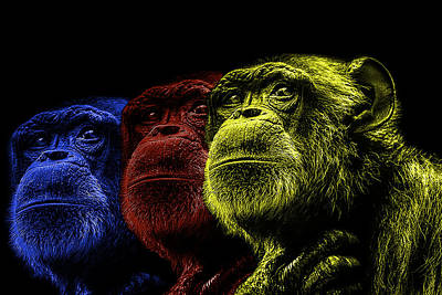 The Colours Of Trepidation  Print by Paul Neville