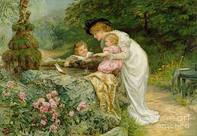 Mums Painting - The Coming Nelson by Frederick Morgan