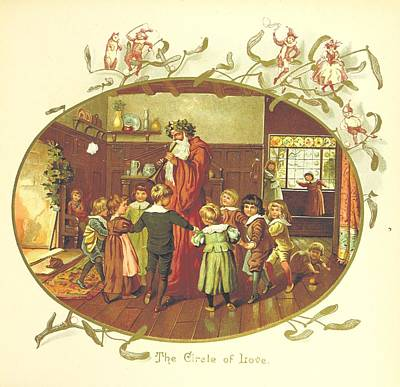 The Coming Of Father Christmas Print by Celestial Images
