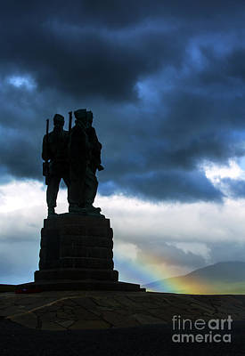 War Memorial Photograph - The Commando Memorial, Scotland, Uk by Diane Diederich