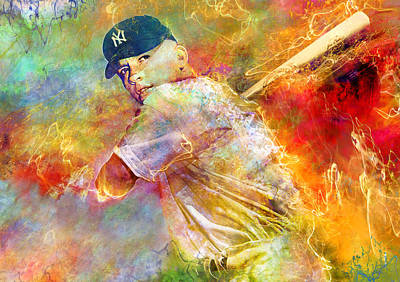 Mickey Mantle Digital Art - The Commerce Comet by Mal Bray
