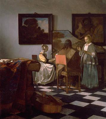 Musical Artist Painting - The Concert by Jan Vermeer