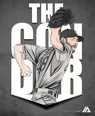 Chicago Baseball Drawing - The Condor by Mario Aguilar