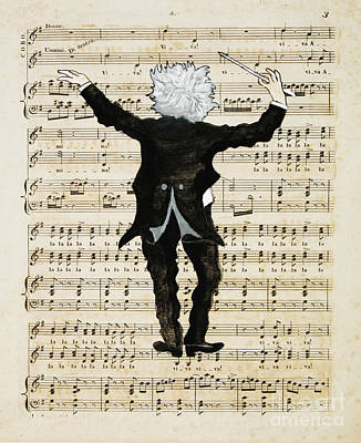 Caricature Painting - The Conductor by Paul Helm