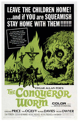 1960s Poster Art Photograph - The Conqueror Worm, Aka Witchfinder by Everett