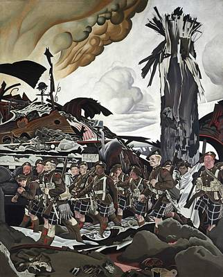 Bagpipes Painting - The Conquerors by Mountain Dreams