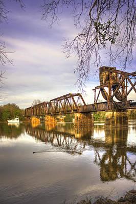 The Coot Augusta Ga 6th Street Trestle Bridge Print by Reid Callaway