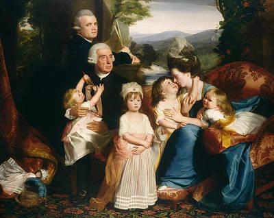 John Singleton Copley Painting - The Copley Family by John Singleton Copley