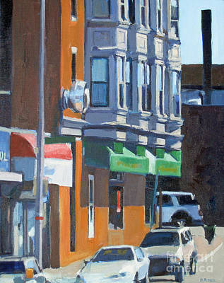 Store Fronts Painting - The Corner by Deb Putnam