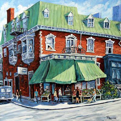 Finding Fine Art Painting - The Corner Market by Richard T Pranke
