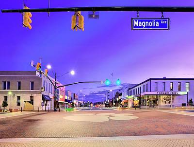 The Corner Of College And Magnolia Print by JC Findley