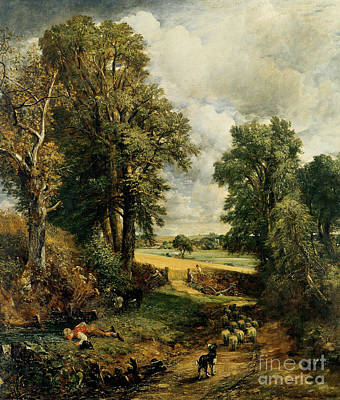 Donkeys Painting - The Cornfield by John Constable