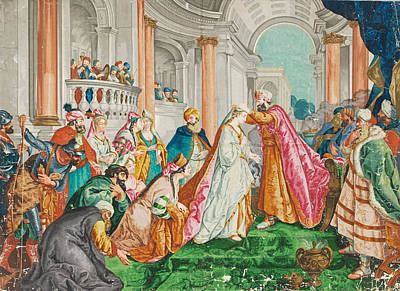 De Troy Painting - The Coronation Of Esther by Jean-Francois Detroy