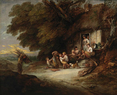 18th Century Painting - The Cottage Door by Thomas Gainsborough