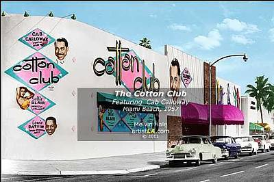 1950s Singer Digital Art - The Cotton Club - Miami Beach C1957 by Melvin Hale ArtistLA