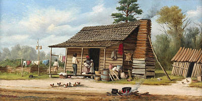 The Cotton Field Painting - The Cotton Pickers Family by William Aiken Walke
