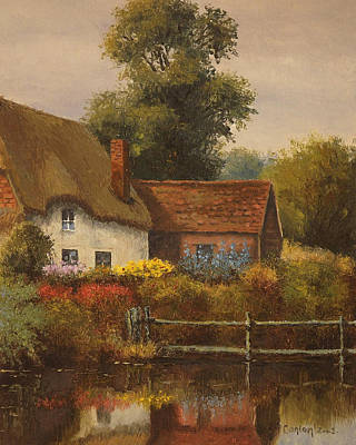 The Country Cottage Print by Sean Conlon
