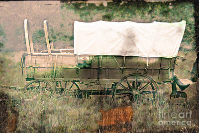 Conestoga Photograph - The Covered Wagon  by Steven  Digman