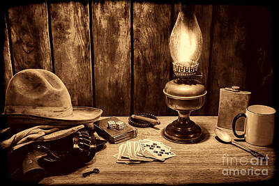The Cowboy Nightstand Print by American West Legend By Olivier Le Queinec