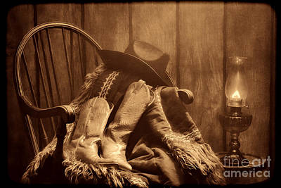 The Cowgirl Rest Print by American West Legend By Olivier Le Queinec