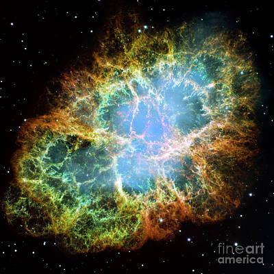 Galactic Digital Art - The Crab Nebula by Nicholas Burningham