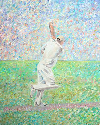 Impressionism Painting - The Cricketer by Elizabeth Lock