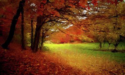 Painting - The Crimson Season P D P by David Dehner