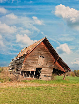 Kim Photograph - The Crooked Barn by Kim Hojnacki