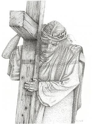 Orca Drawing - The Cross by Mayhem Mediums