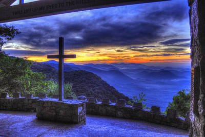 Mercy Photograph - The Cross Pretty Place Chapel by Reid Callaway