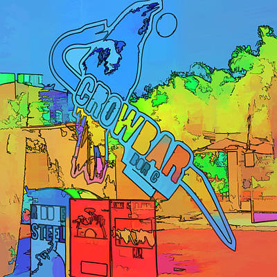 Multi Colored Photograph - The Crowbar Ybor City by Marvin Spates