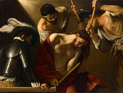 Caravaggio Painting - The Crowning With Thorns by Caravaggio