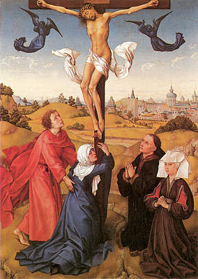 The Crucifixion By Van Der Weyden Print by Rogier Van Der Weyden
