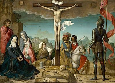 Juan De Flandes Painting - The Crucifixion by Juan de Flandes