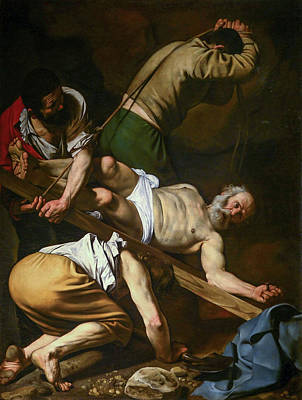 Crucifixion Painting - The Crucifixion Of Saint Peter by Caravaggio