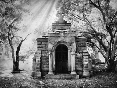 Haunting Digital Art - The Crypt At Woodlawn by Jessica Jenney