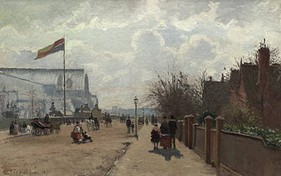The Crystal Palace Print by Camille Pissarro